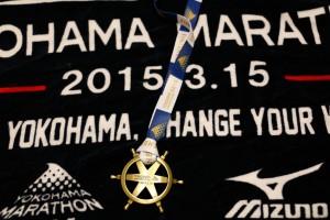 フィニッシャータオルとメダル